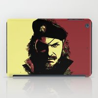 metal gear solid iPad Cases featuring Big Boss (naked snake from metal gear solid) by TxzDesign