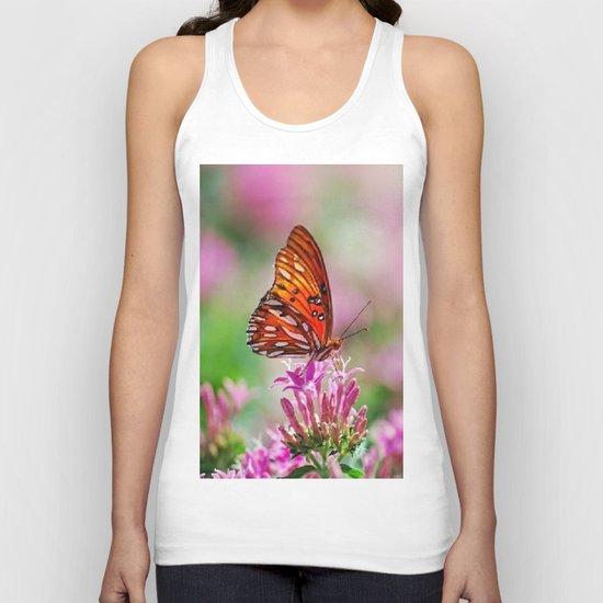Wedding Butterfly Unisex Tank Top