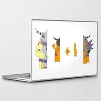 courage Laptop & iPad Skins featuring Courage by Grimm Company