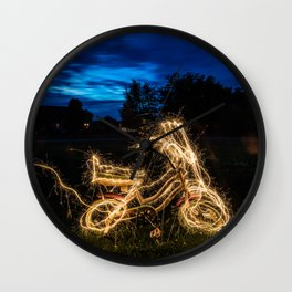 Glow Bike Wall Clock