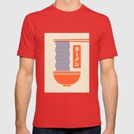 Ramen Japanese Food Noodle Bowl Chopsticks - Cream T-shirt