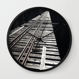 Forgotten Bridge Wall Clock