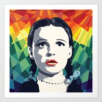 dorothy Art Prints featuring Dorothy by Stephanie Keir