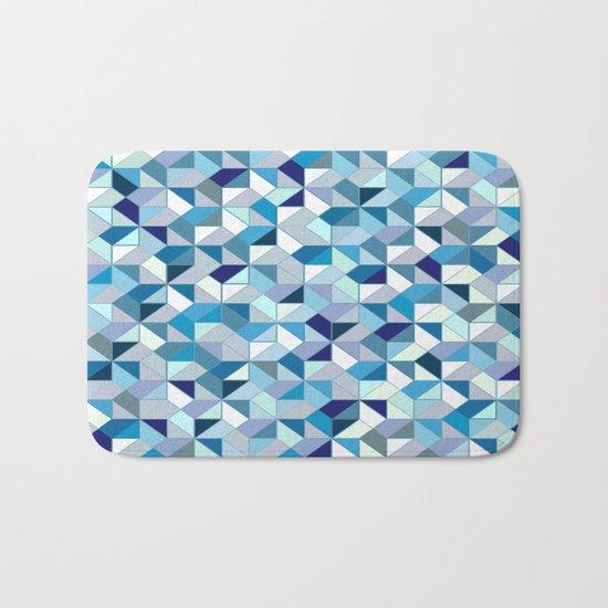 Geometrica (blue) Bath Mat