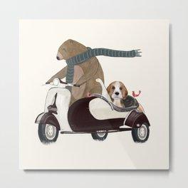 the bear mobile Metal Print