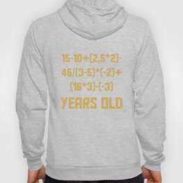16 Years Old Algebra Equation Funny 16th Birthday Math Hoody