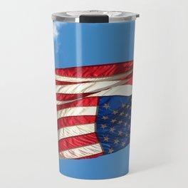 The Upside Down American Travel Mug