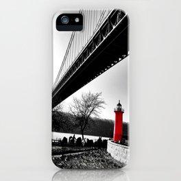 The Little Red Lighthouse - George Washington Bridge NYC iPhone Case