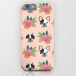 French Bulldog florals cute spring summer dog gifts bright happy frenchie puppy dog portraits  iPhone Case