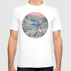 Dream Orb White Mens Fitted Tee MEDIUM
