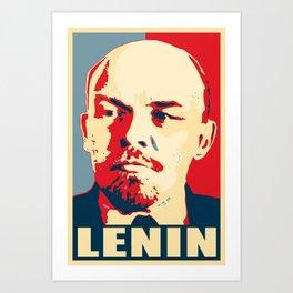 Lenin Propaganda Art Art Print
