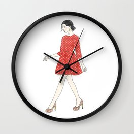 Fashion style illustration Wall Clock