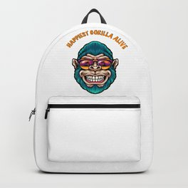 Happiest gorilla alive Backpack