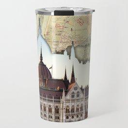 Budapest Globe Map Travel Mug