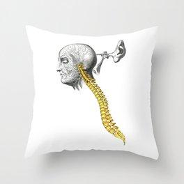spinal column Throw Pillow