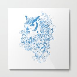 THE OBSCURE OWL Metal Print
