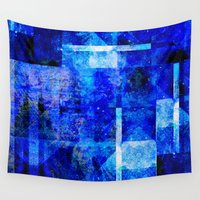 tits Wall Tapestries featuring Sapphire Nebulæ by Aaron Carberry