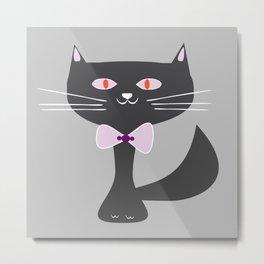 cool black cat Metal Print