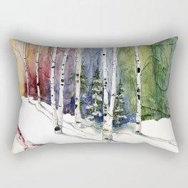4 Season Watercolor Collection - Winter Rectangular Pillow