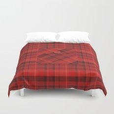 Plaid Pocket - Red Duvet Cover
