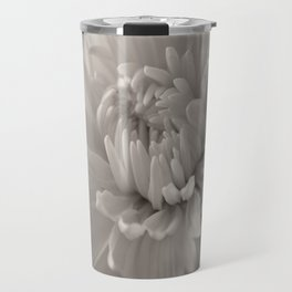 Monochrome chrysanthemum close-up Travel Mug