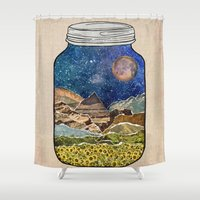 amy Shower Curtains featuring Star Jar by Jenndalyn