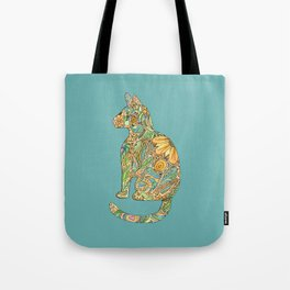 Calico Cat Blue Tote Bag