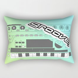 Groove! Rectangular Pillow