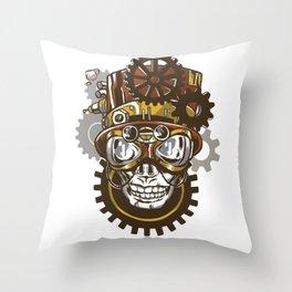 Mechanical Steampunk Sull Throw Pillow