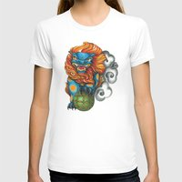 foo fighters T-shirts featuring Foo Dog by missfortunetattoo