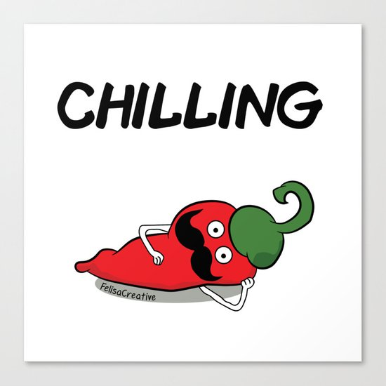 Chilling Canvas Print