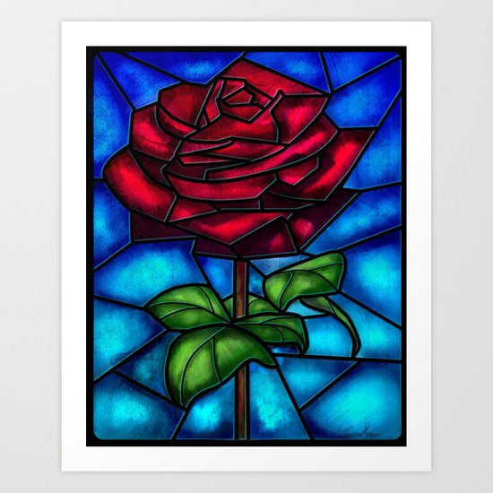 Eternal Rose. Art Print