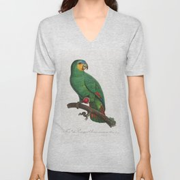 Military Macaw Ara militaris from Natural History of Parrots (1801-1805) by Francois Levaillant Unisex V-Neck