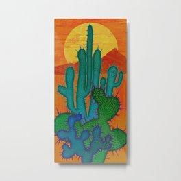 Desert Sun Metal Print