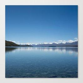 Blue line landscape Canvas Print
