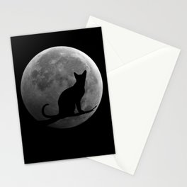 Cat and the Moon Stationery Cards