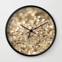 Champagne Gold Lady Glitter #2 #shiny #decor #art #society6 Wall Clock