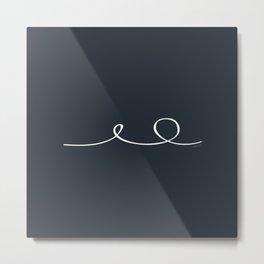 Deep Water - Minimal FS - by Friztin Metal Print