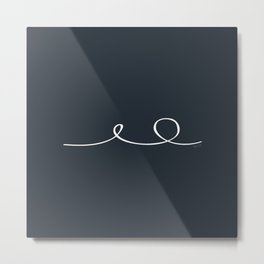 Deep Water - Minimal FS - by Friztin Metal Print