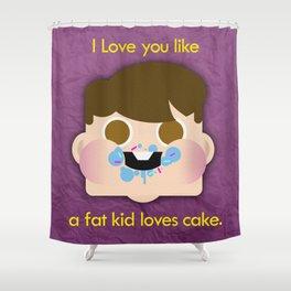 Fattycake love Shower Curtain