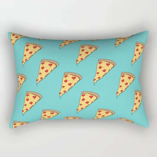 Pepperoni Heart Rectangular Pillow