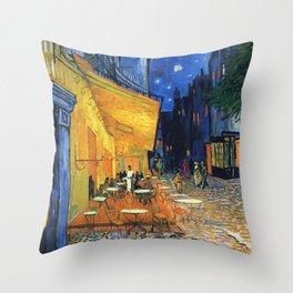 Cafe Terrace, (1888) Throw Pillow