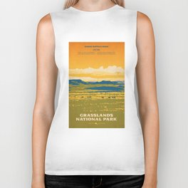 Grasslands National Park Poster Biker Tank