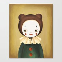 lucy Canvas Prints featuring Lucy by The Midnight Rabbit