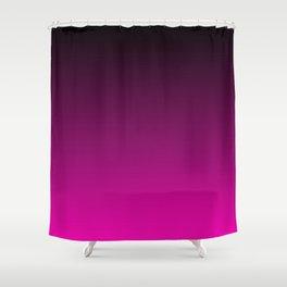 Black and Magenta Gradient Shower Curtain