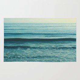 beach waves. Somewhere Rug