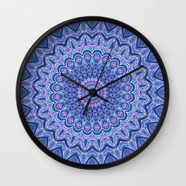 Purple Passion - Mandala Art Wall Clock