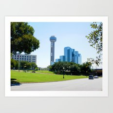 Reunion Tower, Dallas Art Print