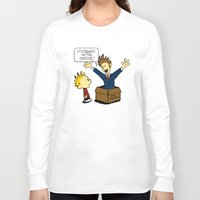 calvin Long Sleeve T-shirts featuring Calvin and the Doctor by sugarpoultry