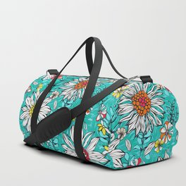 White daisies Duffle Bag